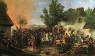 Det danske 4. Dragon Regiment angriber landsbyen ved Ovre Stolk. Under angrebet blev chefen for den 2. Division, Schleppegrell, dræbt.
