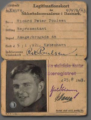 Et falsk legitimationskort lavet til Ole Engberg