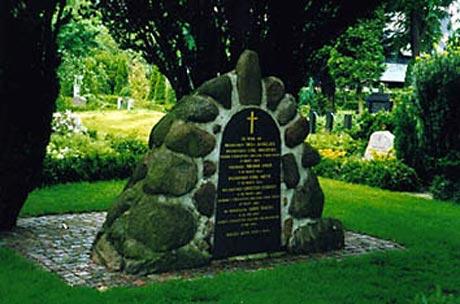 Mindesmærke for de dræbte ombord på Niels Juel