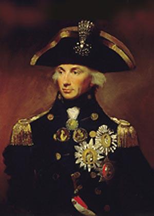 Horatio Nelson blev en af sin tids meste berømte og populære helte. Han startede sin karrier i den engelske flåde som 12 årig og sted i hurtigt i graderne. I en række søslag besejrede han både den franske, spanske og danske flåde, før han i 1805 under kampen ved Trafalgar blev ramt af en fransk skarpskytte og dræbt.