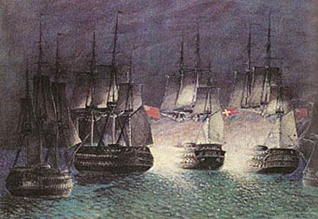 Kampen imellem den engelske eskadre og Prinds Christian Frederik