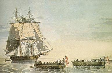 The brig Tickler surrenders to Danish gunboats June 3rd 1808