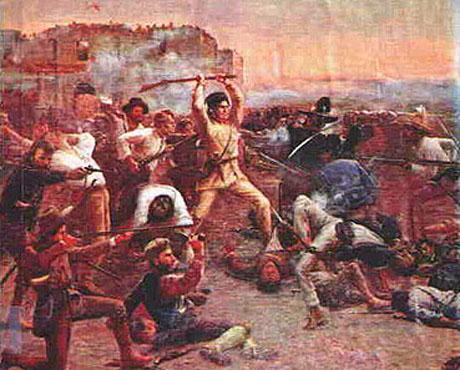 Maleri af kampen ved Alamo (Robert Jenkins Onderdonk)