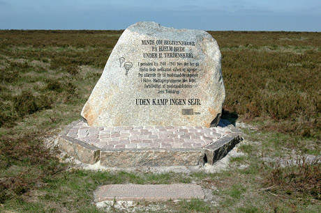 Mindesten opført 2006 på Hjelm Hede ved Skive (fra Wikipedia)