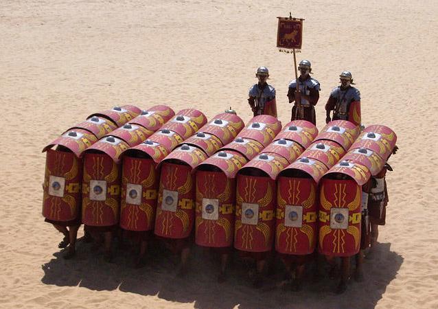 Romersk testudo formationer (fra Wikipedia)