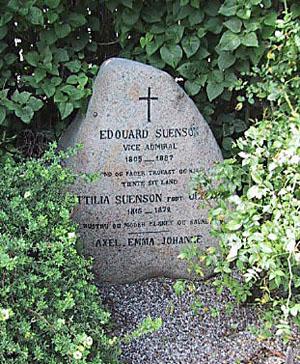 Suensons gravsten på Holmens Kirkegård