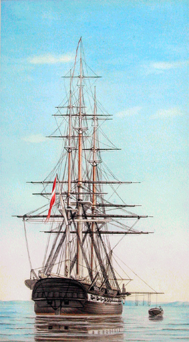 Danish Naval Frigate (painting by Hans Peter Holm)