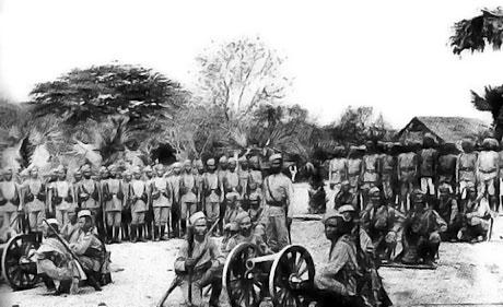 The 6th Queen Elisabeth's own Gurkha Rifles i Burma omkring 1880