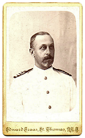 Peter Holm, In his tropical dress whites