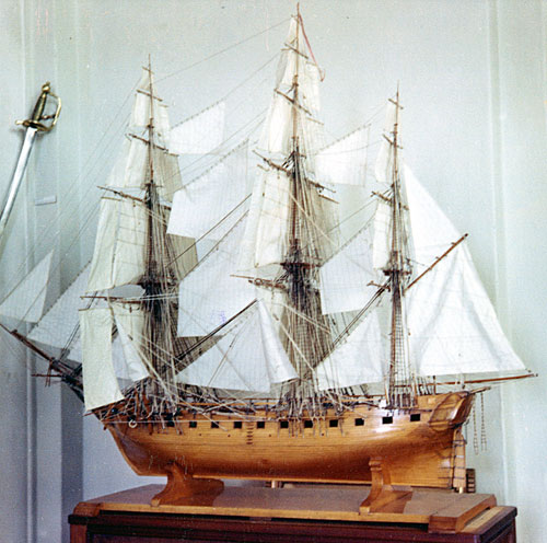 A model of the NAJADEN at the Orlogsmuseum in Copenhagen  (photo: Orlogsmuseets collection)