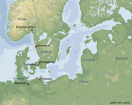 Kort over krigsområdet (grafik: Gert Laursen)