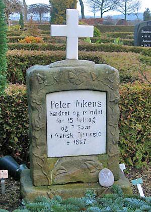 Vilkens grav på Trige kirkegård