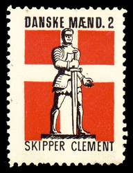 Skipper Clement. Here shown at an illegal stamp from the German occupation of Denmark.