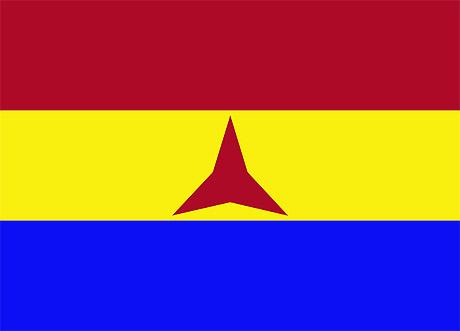 De internationale brigaders flag (foto: fra Wikipedia)