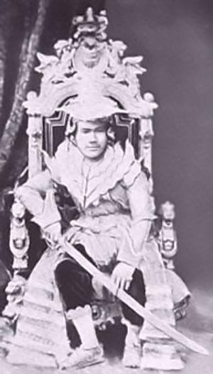 Kong Thibaw - der af briterne blev tvunget til at trække sig tilbage d. 1. januar 1886