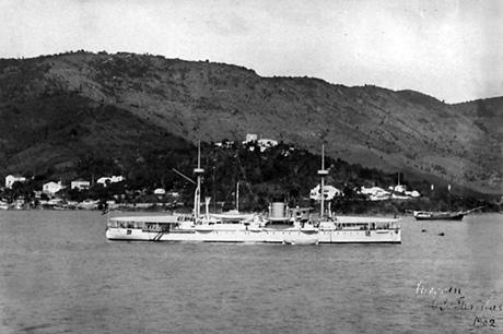 Valkyrien ved St. Thomas (Foto: Marinens Bibliotek)