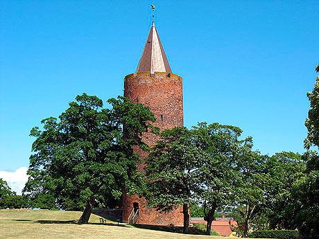 Vordingborg blev Valdemar I, også kendt som Valdemar den Stores, magtbase. Han anlagdeen ny borgkort efter magtovertagelsen i 1157 på resterne afpolitisk rivals stormandsgård, og herfra udgiktogterne mod venderne.Gåsetårnet er dog fra Valdemar Atterdags tid, ca. 1364 (fra Wikipedia)