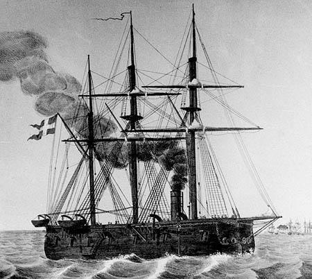 DANNEBROG 1858 (photo: Orlogsmuseets collection)