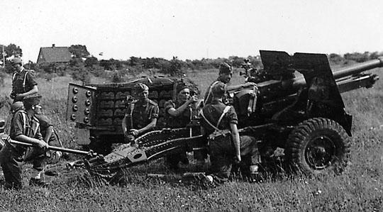 Stillingsøvelse med britisk kanon