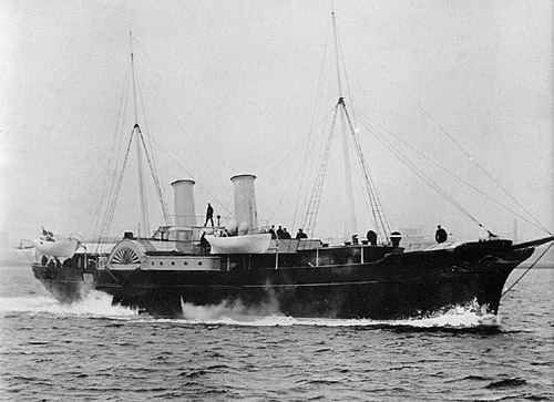 The first Danish royal yacht DANNEBROG (photo: Orlogsmuseetscollection)