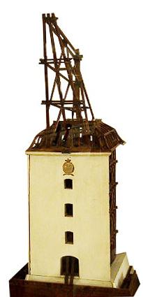 Model af kran på Holmen