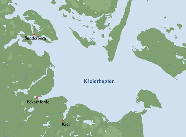 Området omkring Kielerbugten