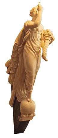 Galionsfiguren fra korvetten FORTUNA