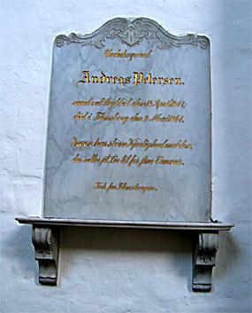 Mindetavle for underkorporal Andreas Petersen