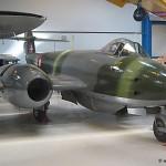 Flyvevåbnets Gloster Meteor MK. 4 på Teknisk Museum i Helsingør