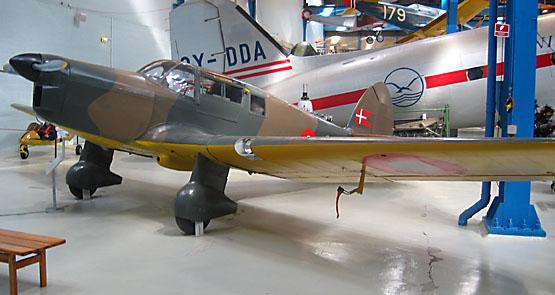 Flyvevåbnets Percival Proctor på Teknisk Museum i Helsingør
