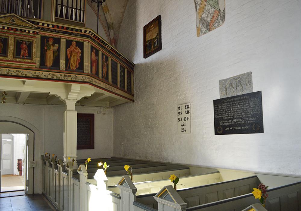 Mindetavle i Sæby Kirke