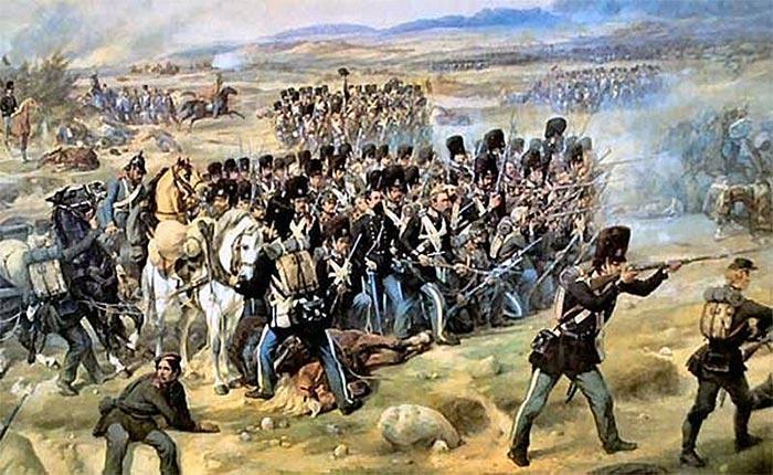 Scene fra slaget ved Isted den 25. juli 1850. Maleri af Niels Simonsen 1854.