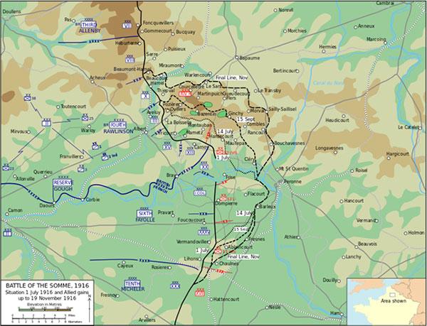 Regiment 86 lå i skyttegrave nær Fresnes på det sydlige frontafsnit, og Reserve-Regiment 86 nær Pozieres og Le Transloy. Her kæmpede danske sønderjyder i nogle af verdenskrigen mest intense kampe mod henholdsvis franskmænd, englændere og australiere. Hundredvis blev dræbt eller såret.
