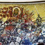 Kunstnerisk fremstilling af Slaget på isen 5. april 1242 (Wikipedia/Messir)
