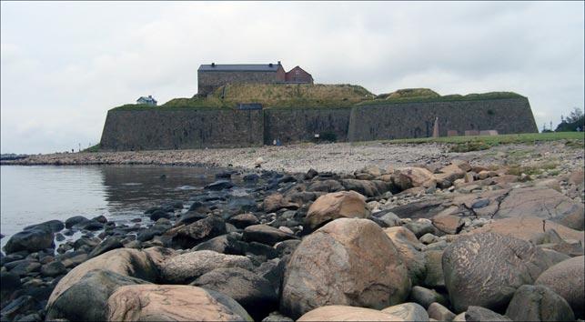 Varbergs fæstning set fra syd