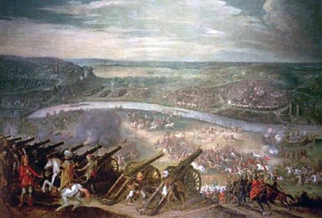 """Pieter Snayers: The Siege of Vienna 1529. På Marcus Meyers tid trængte tyrkiske hære op gennem Balkan; sultan Suleiman """"den prægtiges"""" hære vandt herredømmet over Ungarn i slaget ved Mohács i 1526 og lagde Østrigs hovedstad, Wien, under belejring i 1529."""
